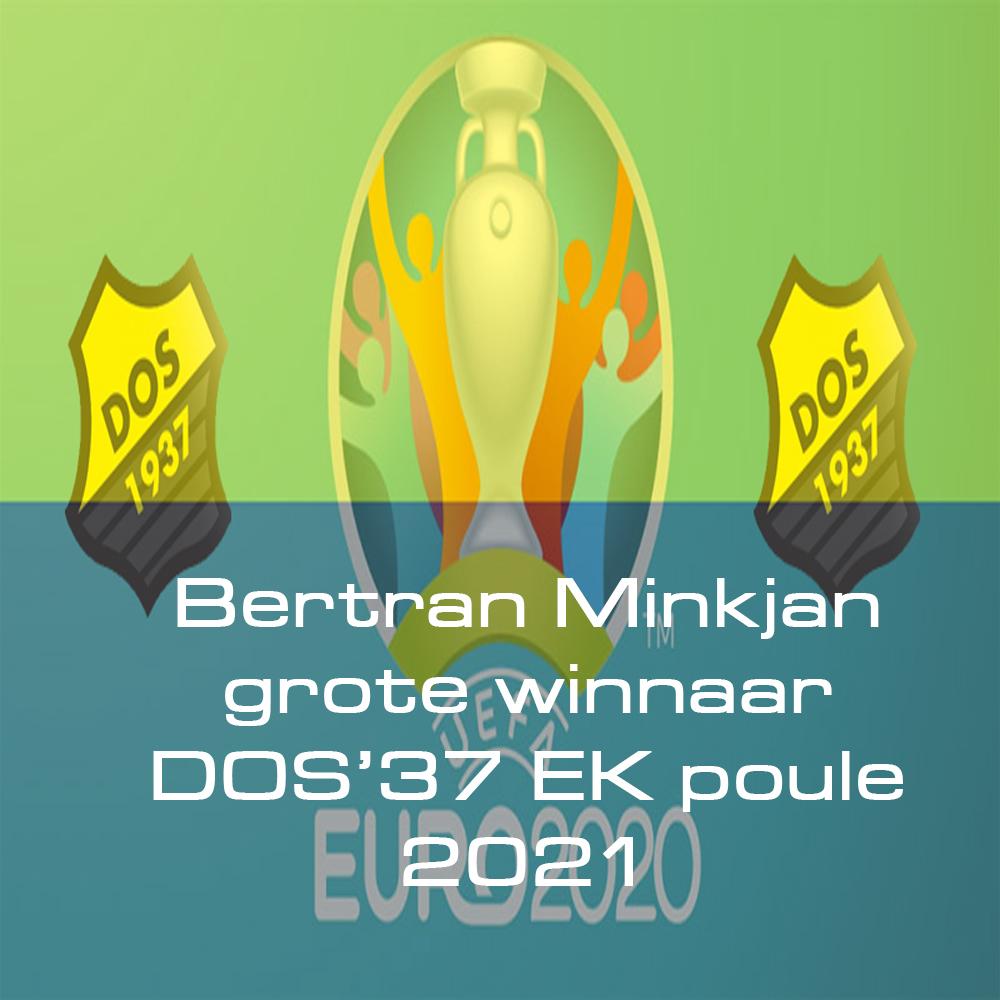 Bertran Minkjan grote winnaar DOS'37 EK poule 2021