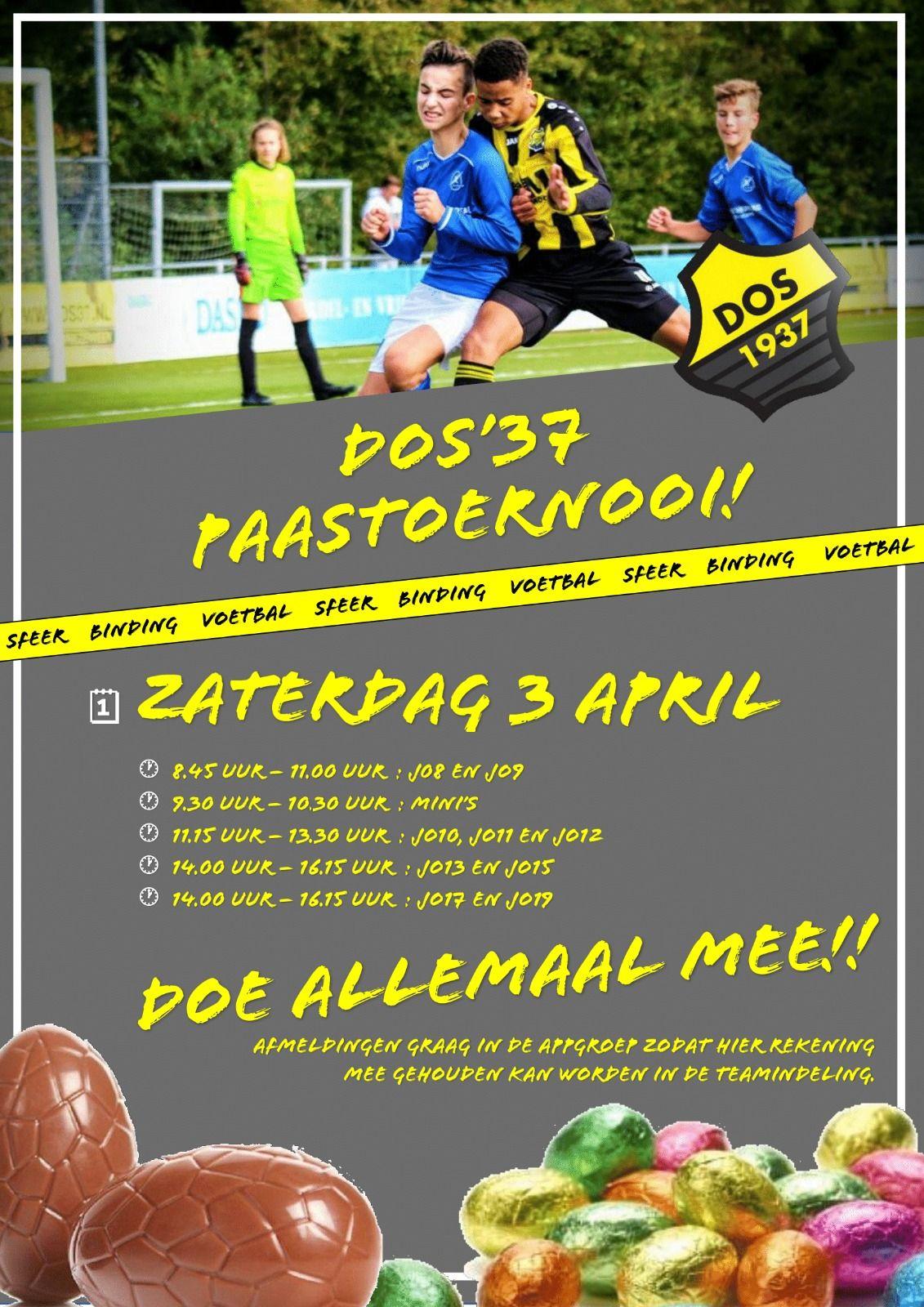 Aanstaande zaterdag afsluiting trainingsblok 2 met het Paastoernooi!