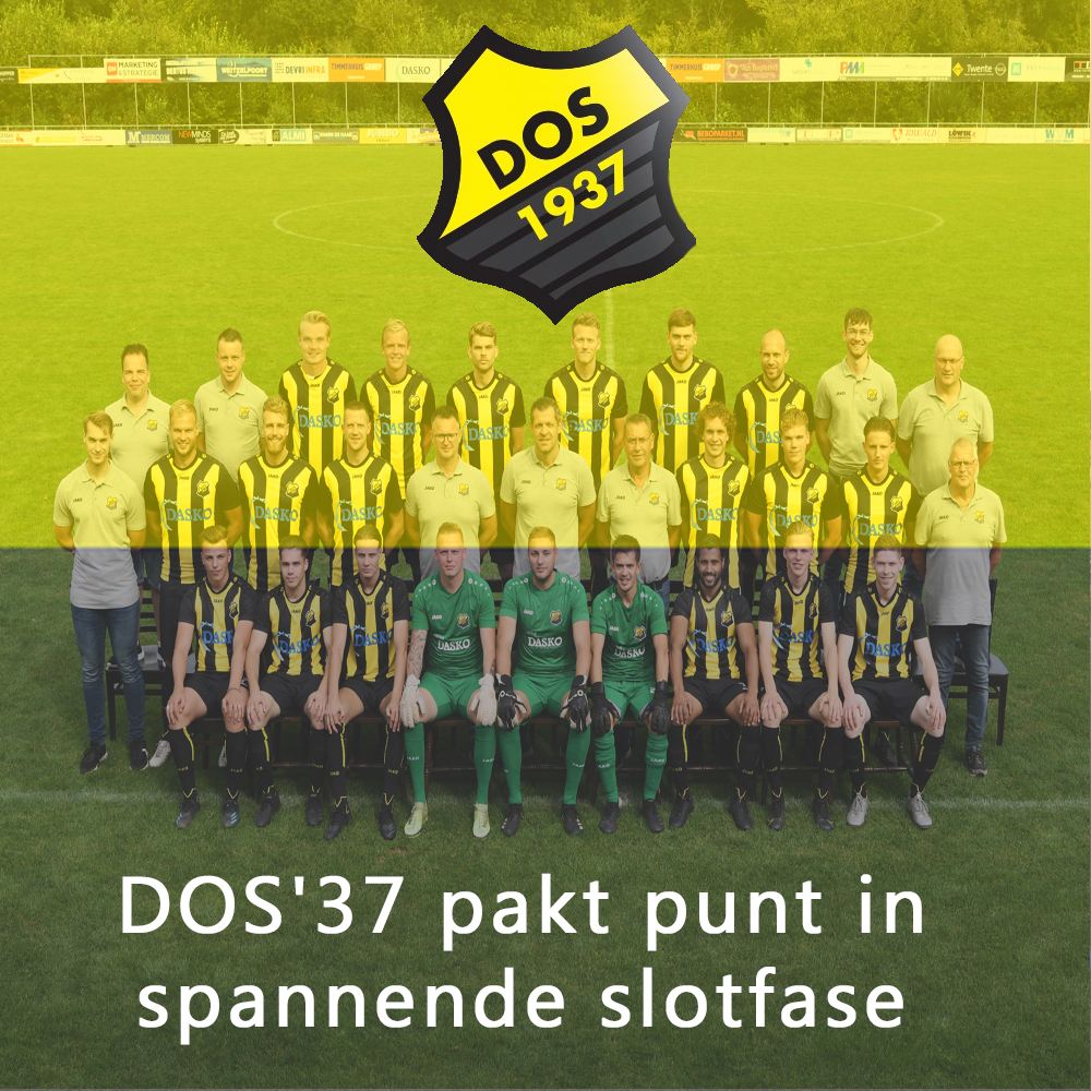 DOS'37 pakt punt in spannende slotfase