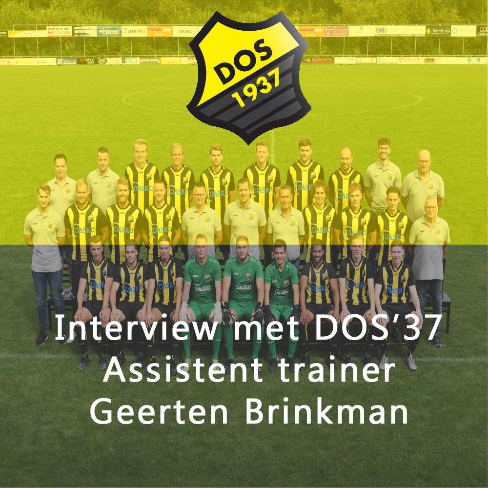 Interview met DOS'37 assistent trainer Geerten Brinkman