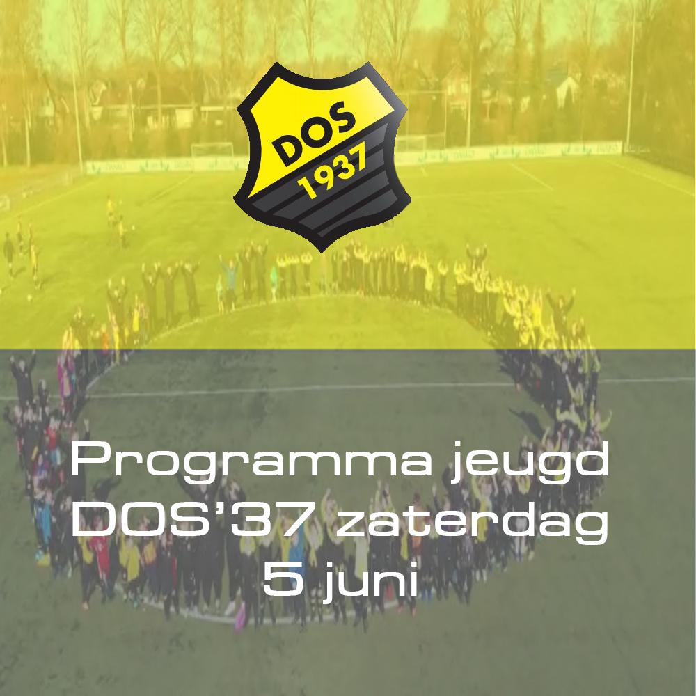 Programma jeugd DOS'37 zaterdag 5 juni
