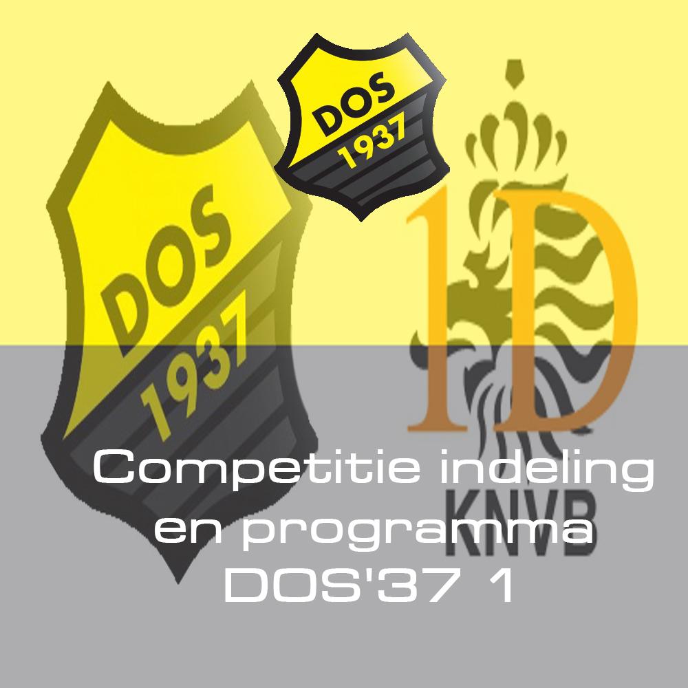 Competitie indeling en programma DOS'37 1