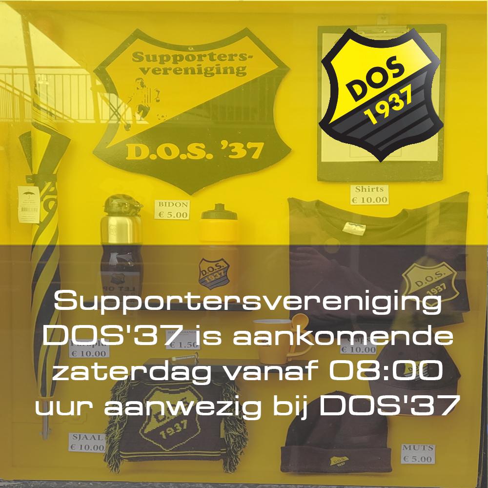 Supportersvereniging DOS'37 is aankomende zaterdag vanaf 08:00 uur aanwezig bij DOS'37