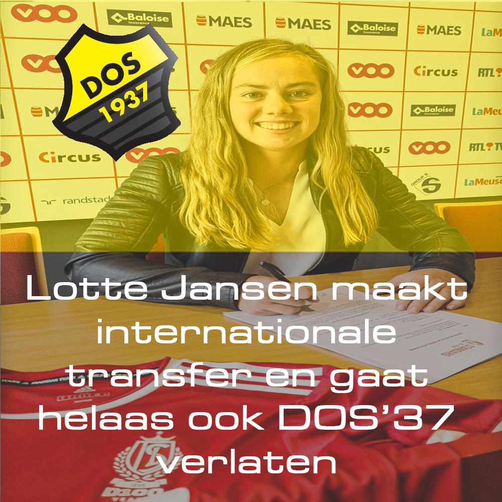 Lotte Jansen maakt internationale transfer en gaat helaas ook DOS'37 verlaten
